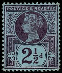 1887 QV SG201 2½d Deep Purple/Blue K31(3) MLH OG CV £25