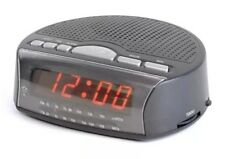AM/FM Bedside Radio 24hr Digital Alarm Clock / Mains Powered with Backup Battery