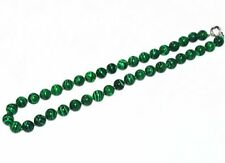 "10mm Green Gorgouese Malachite Gem Round Beads Necklace 18"" JN345"