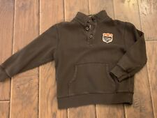 Gymboree Boys Size M 7-8 Brown Long Sleeved Half Button Pullover