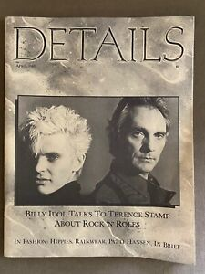 April 1985 Details Magazine w/Billy Idol & Terence Stamp on cover (very Rare)