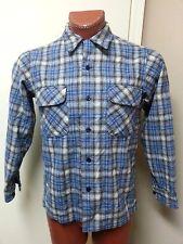 Vintage Pendleton High Grade Western Wear Wool Shirt Sz M Blue Plaid Checkered