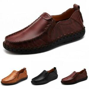 Mens Driving Moccasins Shoes Pumps Slip on Loafers Flats Breathable Soft Comfy L
