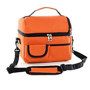 Adult Kid Lunch Box Insulated Shoulder Bag Foods Drink Cooler Travel School Pack