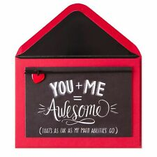 NEW & SEALED PAPYRUS You + Me = Awesome Chalkboard Valentine's Day Card  $7.95