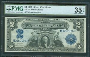 $2 Silver Cert. Series 1899, Fr. 255, PMG Choice VF 35 EPQ