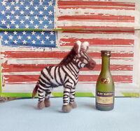 Needle Felted Animal little Zebra Wool Art Sculpture ooak