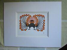 """AUTUMNAL OWL"" by Inuit artist KENOJUAK ASHEVAK matted art print"