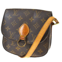 Auth LOUIS VUITTON Mini Saint Cloud Shoulder Bag Monogram Brown M51244 88MF139