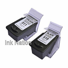 1x Canon PG510 Black & CL511 Colour Remanufactured Ink Cartridge Twin Pack