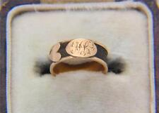 A Very Sad Childs Hair Mourning Band Ring Circa 1800's