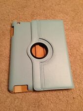 Luxury 360 Turnable iPad 2/3/4 Smart Cover Case Blue (bonus Screen Protector X1)