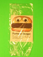 1977 McDonalds - Fun-To-Go *Test* - Fortune Burger rub-off *MIP*