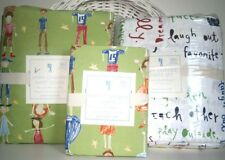 Pottery Barn Kids Happy Children organic Duvet cover Sheet Set Twin 5pc