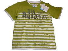 NEU Topolino tolles T-Shirt Gr. 116 grün gestreift mit Schriftzugdruck !!