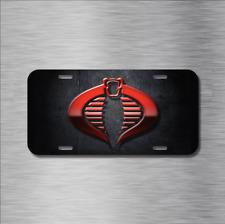 GI Joe Cobra Commander G.I. American Vehicle License Plate Front Auto Tag NEW