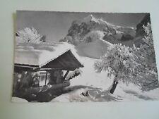 Vintage Real Photo Postcard GRINDELWALD, WETTERHORN Franked+Stamped   §A724