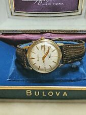 Vintage 1970 BULOVA SEA KING Automatic 10k Plated Watch w/ NOS Band&crystal