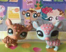 Littlest Pet Shop x 2 #1007#1736 Blue Brown Armadillo