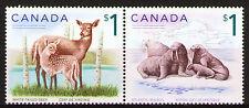 Canada 2005 Sc1688-89a  Mi2299-300 1 Pair mnh  Deer&Walrus