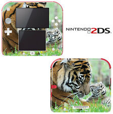 Vinyl Skin Decal Cover for Nintendo 2DS - Sweet Baby Tiger Cub with Mom