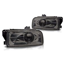 For 1992-1998 BMW E36 M3 Chrome Fog Lights Replacement Projector Lamps Smoke Len
