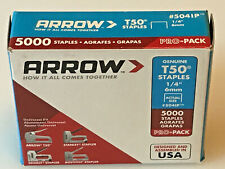"Arrow Fastner Heavy Duty Staples T50 1/4"" x 3/8"" Medium Crown, 5041P, New"
