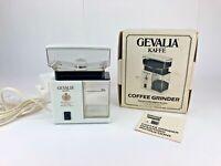 Vintage Gevalia Kaffe Electric Coffee Bean Spice Grinder - NOB  7 grind settings