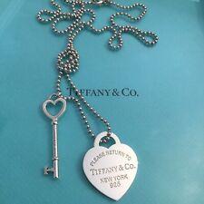 "New TIFFANY & Co. Heart Extra Large 34""  Heart Key Chain Necklace Tag Xl"