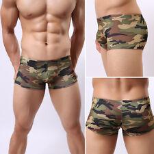 Hombre Suave Transpirable Camuflaje Cintura Baja Boxers Ropa Interior
