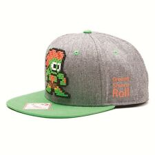 AWESOME 8-BIT STREET FIGHTER BLANKA GREEN & GREY SNAPBACK CAP HAT *BRAND NEW*