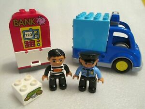LEGO Duplo Town Police Patrol #10809 ATM Cop Robber Car Complete Set