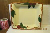 "Vintage Franciscan Ware Apple Pattern 9"" Square Microwave Baker USA"