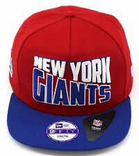 BNWT NEW ERA OFFICIAL NEW YORK GIANTS NFL 9FIFTY SNAPBACK CAP SIZE YOUTH 51-54CM