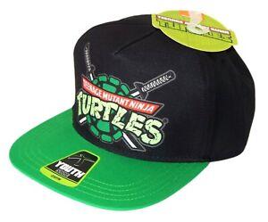 NINJA TURTLES Boys/Youth Flat Bill Baseball Cap Snapback Hat NWT Ages 4-12