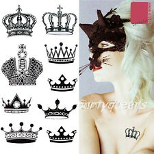 1Sheet Crown Mehndi Waterproof Temporary Tattoo Removable Crown Image Stickers