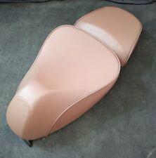 NEW Piaggio Vespa Brown Leather Complete Saddle Seat 1B004528 W/ Built In Cover