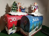 2002 Grandeur Noel Decorative Christmas Mailbox Set Collector's Edition PreOwned