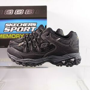 Size 8.5 Men's Skechers After Burn Memory Fit Sneakers 50125/BKCC Black/Charcoal