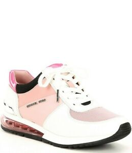 Michael Kors Allie Trainer Extreme Sneakers Smokey Rose Pink White Size 7.5 M