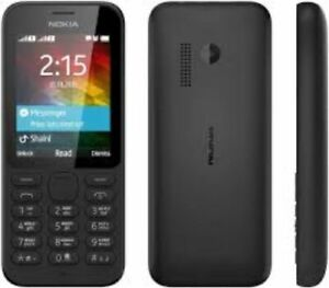 SIMPLE NOKIA 215 CHEAP MOBILE PHONE-ON O2/TESCO UK WITH NEW CHARGAR AND WARRANTY