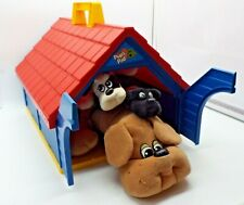 Vtg 1986 80s Tonka Pound Puppies Dog House Pups Pad Big Carrying Case Lot