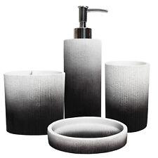 Urbana Poly Resin Bath Accessory Collection 4 Piece Bathroom Set