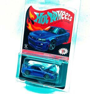 Hot Wheels 2019 RLC Red Line Club Nissan Skyline GT-R BNR34 Blue Spectraflame