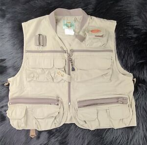 White River Fly Shop Journeyman XL Beige fly fishing Vest Shipped Promptly 💨