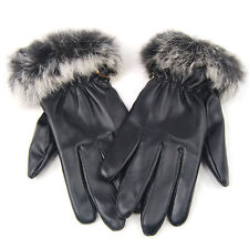 Women's Faux Leather Gloves and Mittens