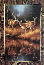 "Deer By the Water Garden Flag Fall Autumn Buck Great Wildlife Woods 12.5"" x 18"""