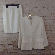 Le Suit womens 12 skirt suit white womens blazer career 2 piece set