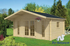 Gartenhaus Gustav ISO Blockhaus 500x380 cm Holzhaus 44 mm Gerätehaus Holz