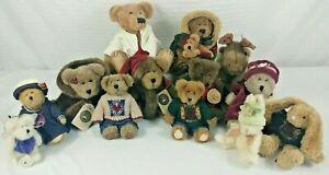 Set of 13 Boyds Bears JB Bean and Associates Plush Stuffed Animals Moose Rabbit